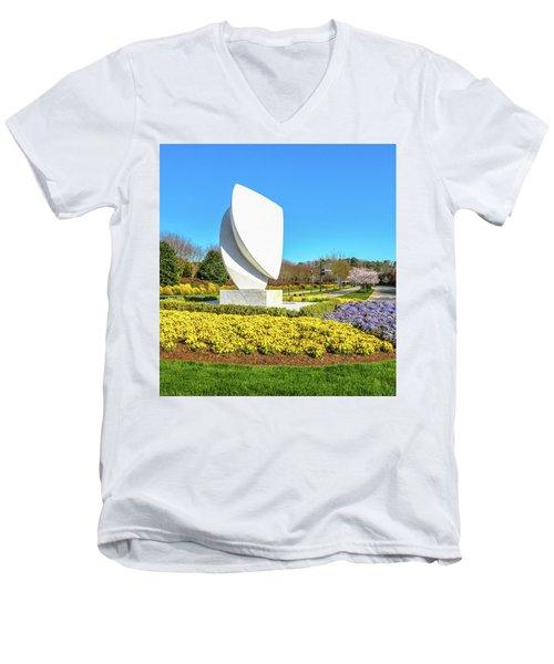 Elements Sculpture At Christopher Newport University In Springtime Men's V-Neck T-Shirt