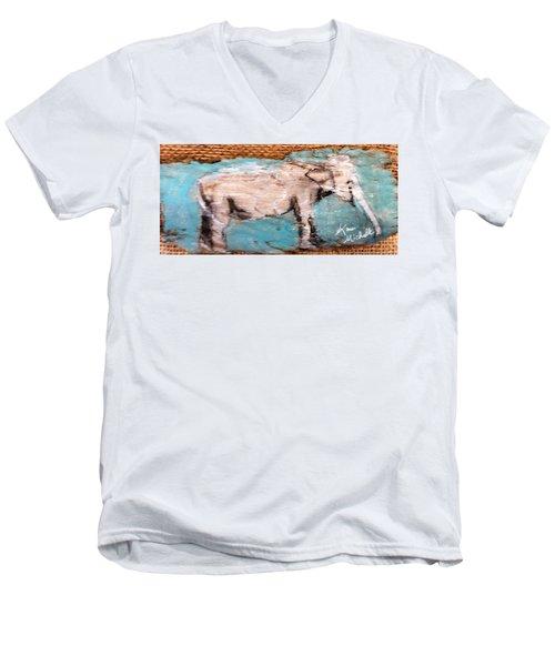 Elephant Men's V-Neck T-Shirt by Ann Michelle Swadener