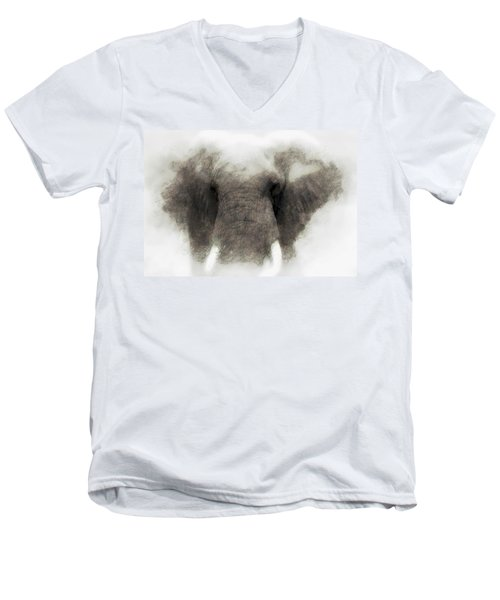Elephant Portrait Men's V-Neck T-Shirt
