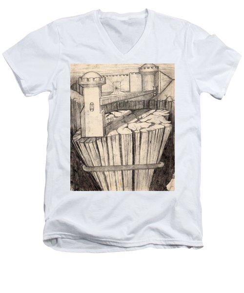 Elevator To Heaven Men's V-Neck T-Shirt