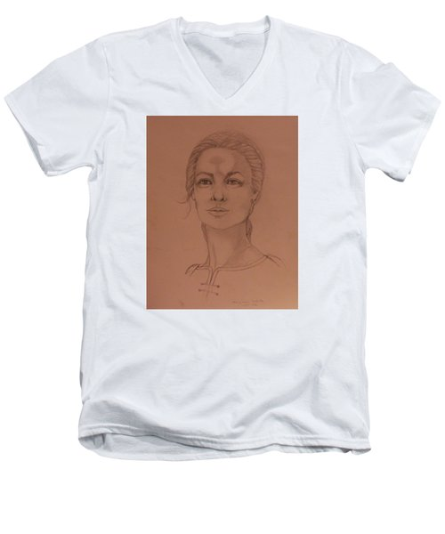 Elizabeth The White Queen Men's V-Neck T-Shirt