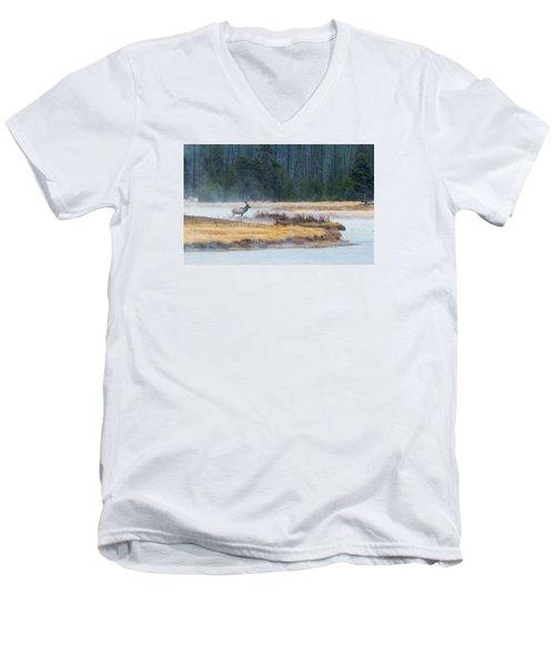 Elk Crossing Men's V-Neck T-Shirt
