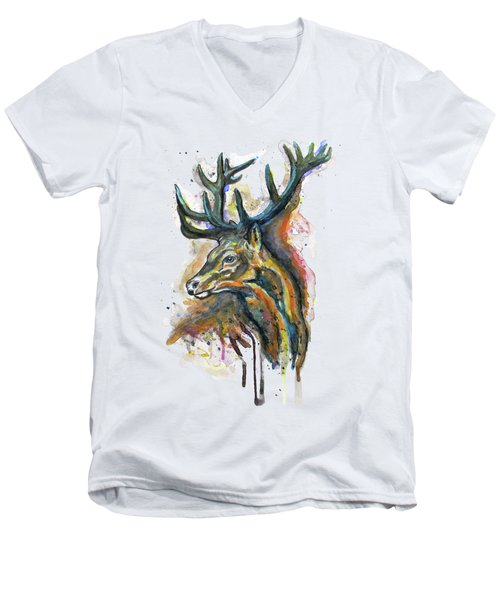 Elk Head Men's V-Neck T-Shirt