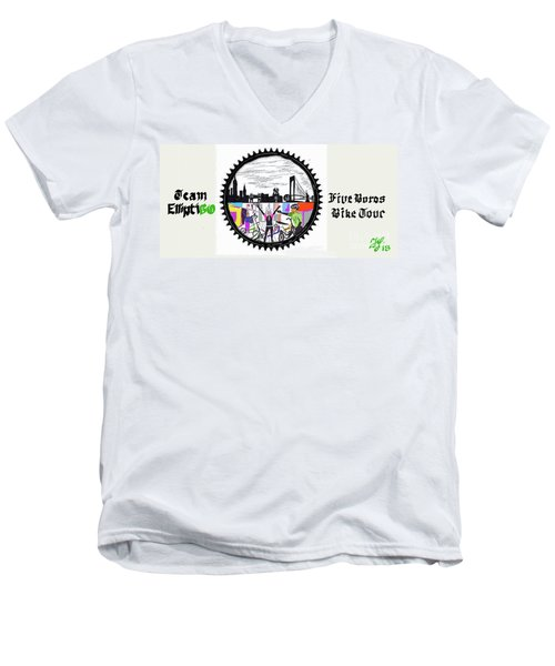 elliptiGO meets the 5 boros bike tour Men's V-Neck T-Shirt