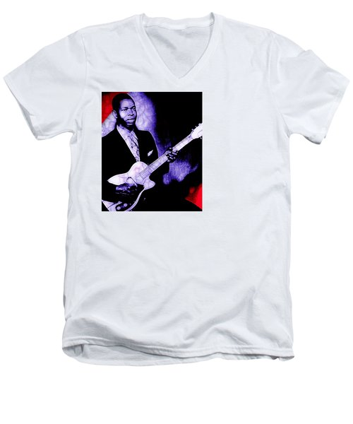 Elmore James Collection Men's V-Neck T-Shirt by Marvin Blaine