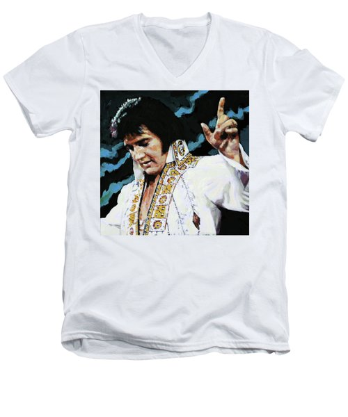 Elvis - How Great Thou Art Men's V-Neck T-Shirt