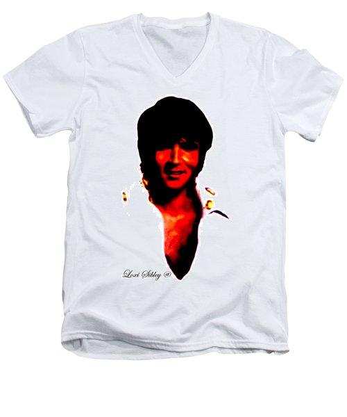 Elvis By Loxi Sibley Men's V-Neck T-Shirt