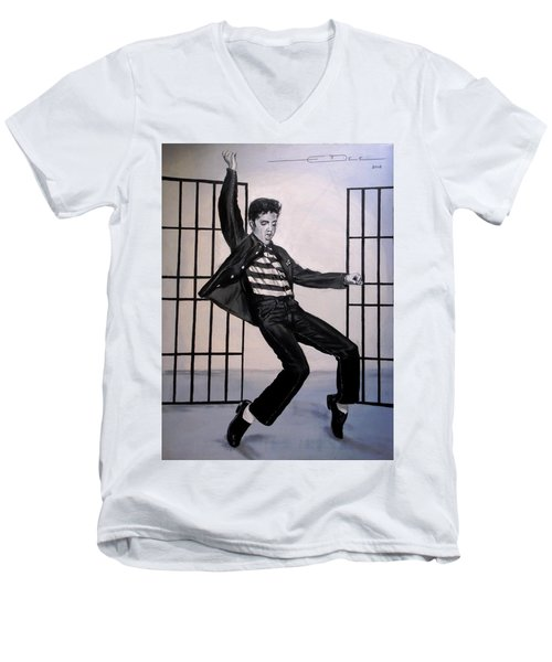 Elvis Presley Jailhouse Rock Men's V-Neck T-Shirt