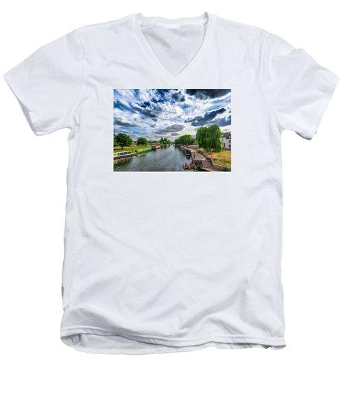 Ely Riverside Men's V-Neck T-Shirt