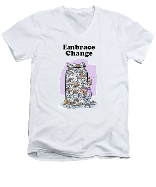 Embrace Change Men's V-Neck T-Shirt