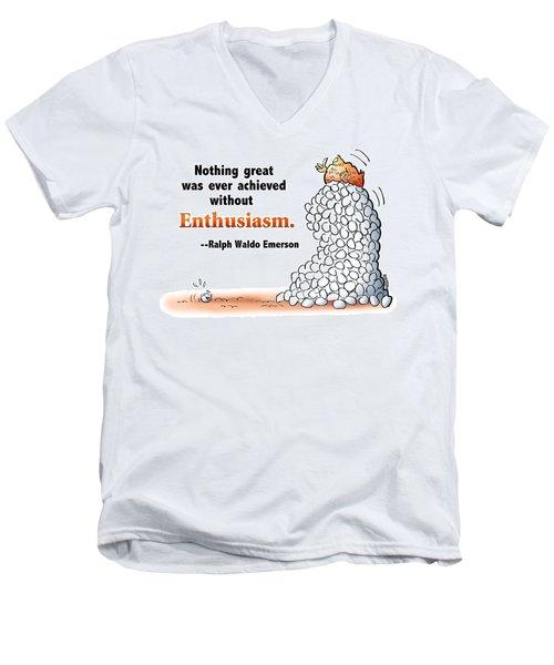 Embrace Enthusiasm Men's V-Neck T-Shirt