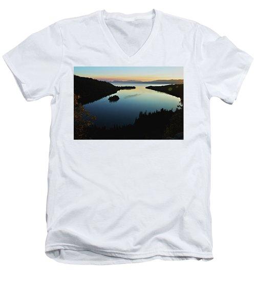 Emerald Bay, Lake Tahoe, Dawn Men's V-Neck T-Shirt