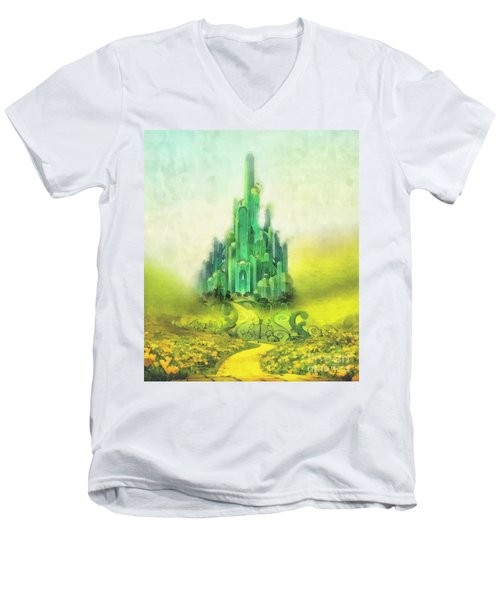 Emerald City Men's V-Neck T-Shirt