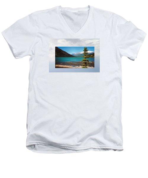 Emerald Lake Chilkoot Trail Alaska Men's V-Neck T-Shirt