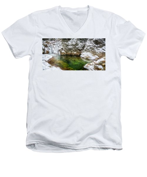 Emerald Pool Ellis River Nh Men's V-Neck T-Shirt