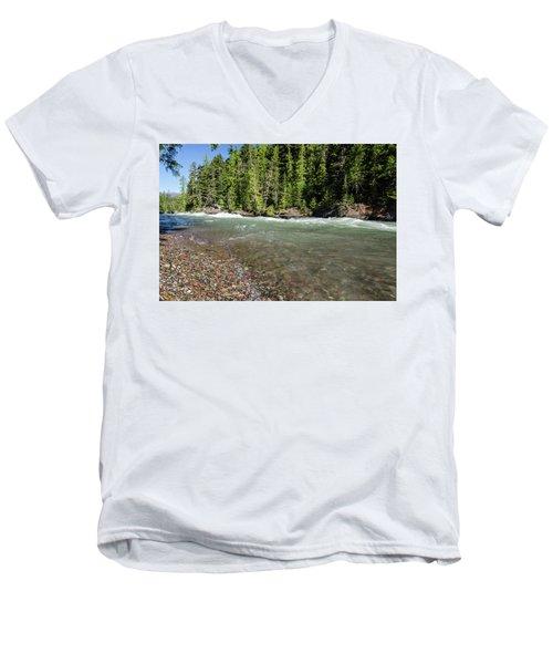 Emerald Waters Flow Men's V-Neck T-Shirt