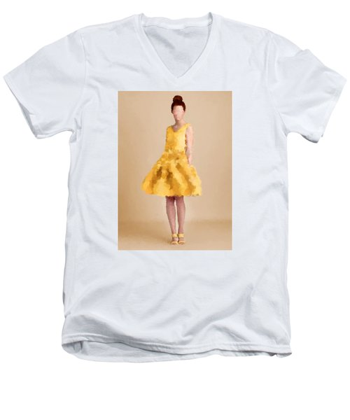 Men's V-Neck T-Shirt featuring the digital art Emma by Nancy Levan