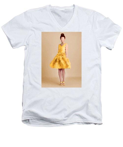Men's V-Neck T-Shirt featuring the digital art Emma by Nancy Levan