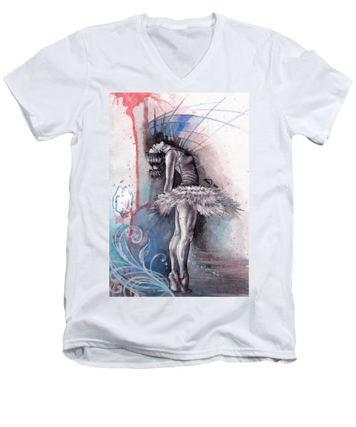 Emotional Ballet Dance Men's V-Neck T-Shirt