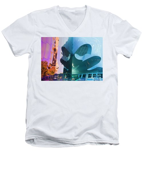 Men's V-Neck T-Shirt featuring the photograph Emp Psychadelic by Chris Dutton