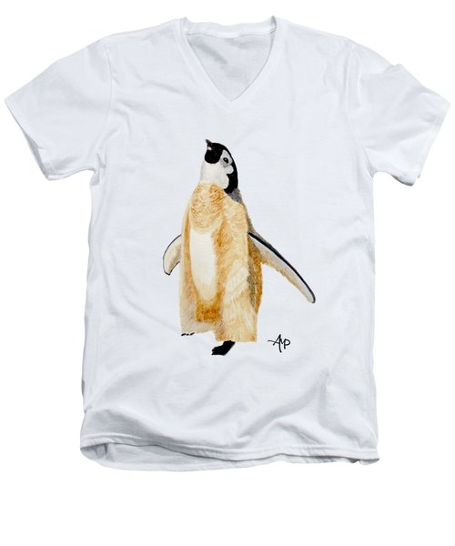 Emperor Penguin Chick Men's V-Neck T-Shirt