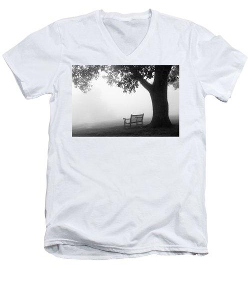Empty Bench Men's V-Neck T-Shirt by Monte Stevens