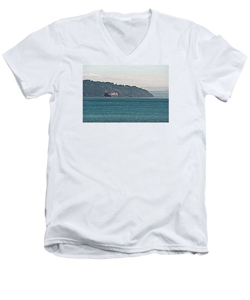 Empty Or Full? Men's V-Neck T-Shirt by John Rossman