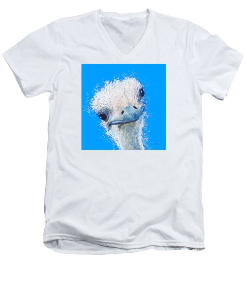 Emu Painting Men's V-Neck T-Shirt by Jan Matson