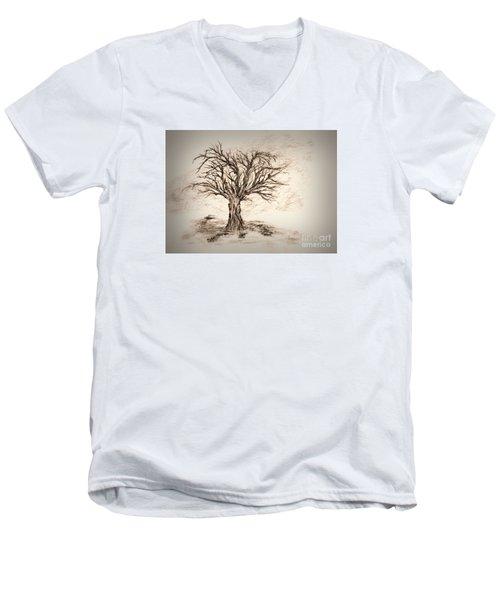 Enchanted 3 Men's V-Neck T-Shirt by John Krakora