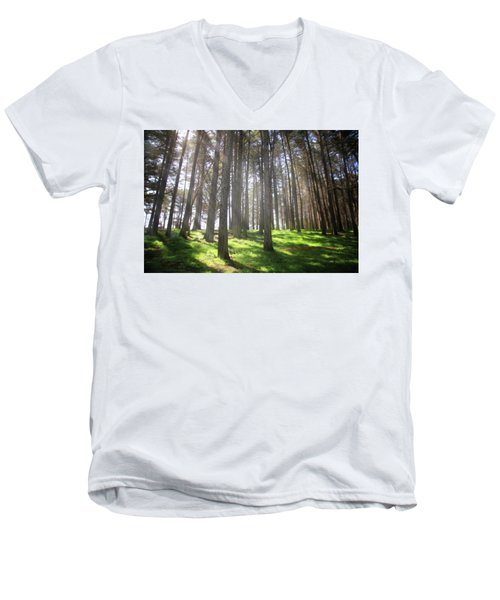 Men's V-Neck T-Shirt featuring the photograph Enchanted by Laurie Search