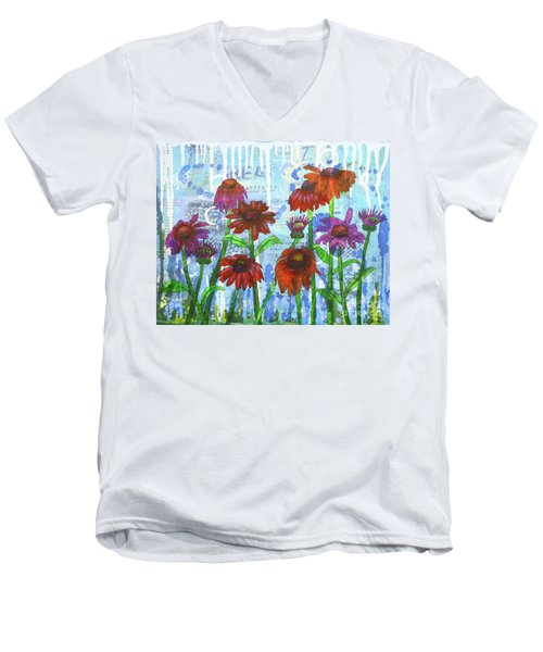 Enchanting Echinacea Men's V-Neck T-Shirt