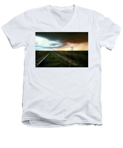 End Of A Stormy Day Men's V-Neck T-Shirt