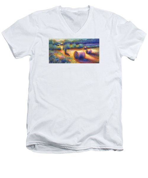 End Of A Well Spent Day Men's V-Neck T-Shirt by Retta Stephenson