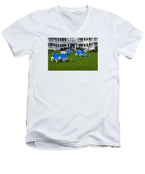 Men's V-Neck T-Shirt featuring the photograph End Of Season 3 by Richard Ortolano