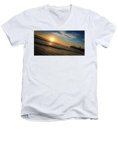 End Of Summer Sunset Surf Men's V-Neck T-Shirt