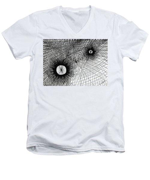 Energy Men's V-Neck T-Shirt by Quwatha Valentine