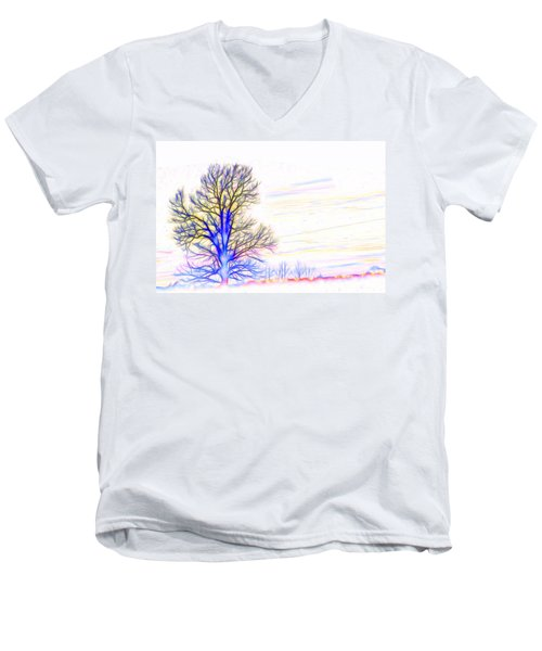 Energy Tree Men's V-Neck T-Shirt