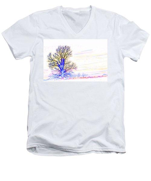 Energy Tree Men's V-Neck T-Shirt