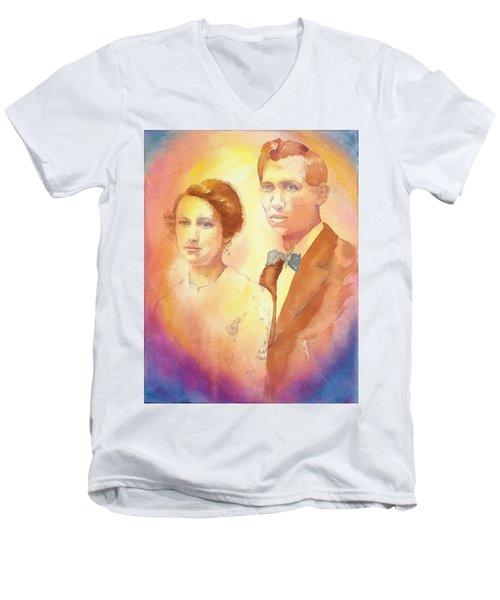Engagement Day Men's V-Neck T-Shirt by Tara Moorman