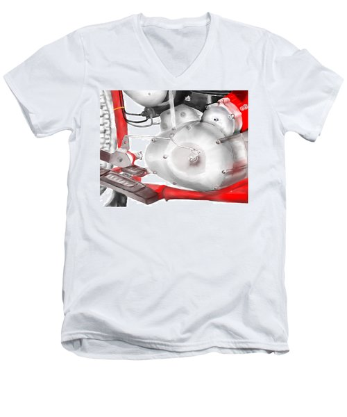 Engine Detail Men's V-Neck T-Shirt