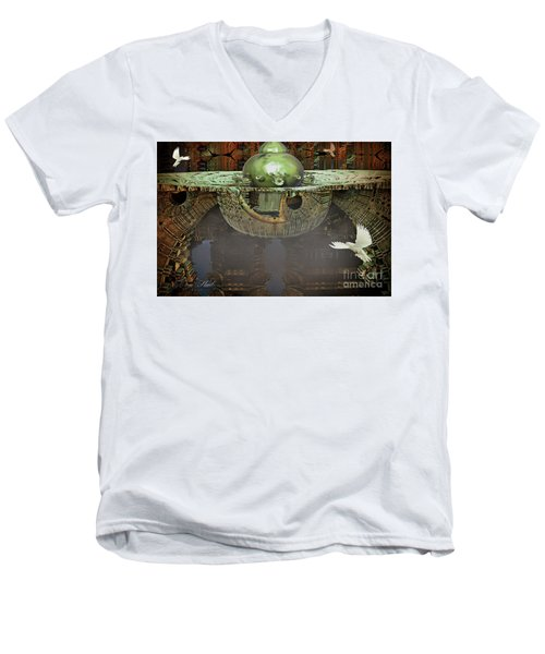 Engine Room Fractal Men's V-Neck T-Shirt