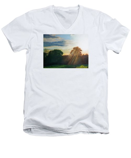 English Countryside Men's V-Neck T-Shirt