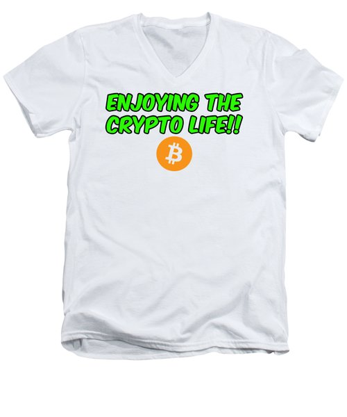 Enjoy The Crypto Life #2 Men's V-Neck T-Shirt