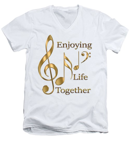 Enjoying Life Together Men's V-Neck T-Shirt