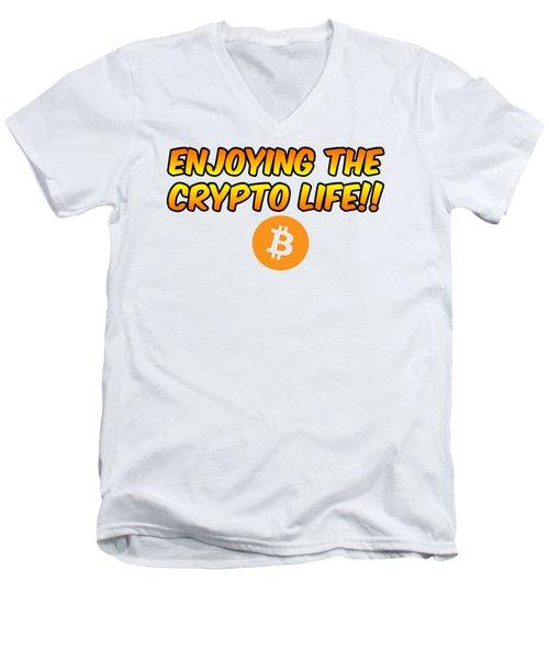 Enjoying The Crypto Life#1 Men's V-Neck T-Shirt