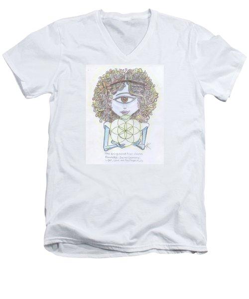Enlightened Alien Men's V-Neck T-Shirt