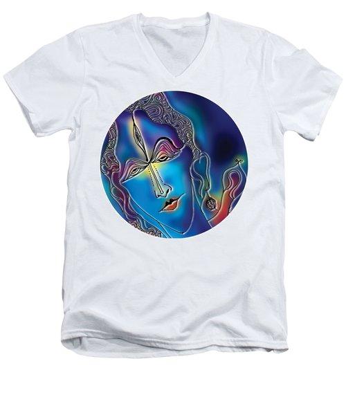 Enlightening Shiva Men's V-Neck T-Shirt