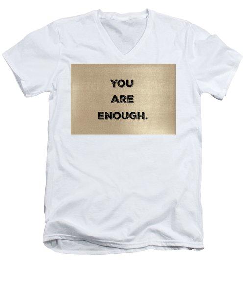 Enough #1 Men's V-Neck T-Shirt