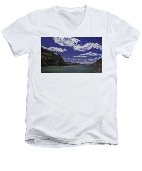 Men's V-Neck T-Shirt featuring the photograph Entering Yellowstone National Park by Jason Moynihan