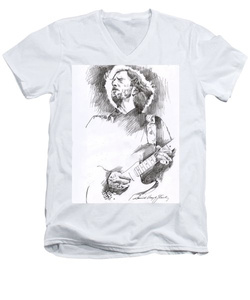 Eric Clapton Sustains Men's V-Neck T-Shirt